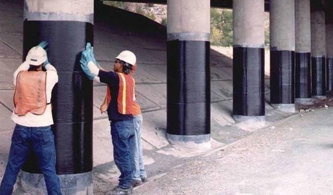 Gia cường cột bê tông bằng vật liệu FRP
